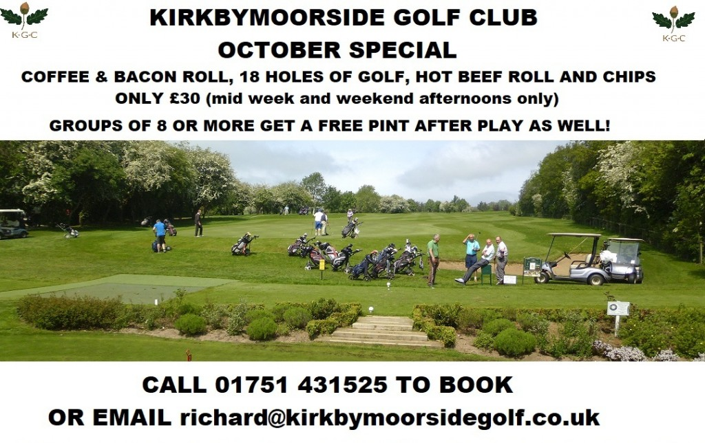 October Golf Offer